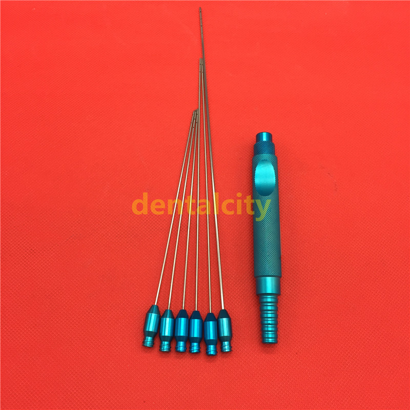 7pcs set Tumescent infiltration liposuction cannula Water injection handle set