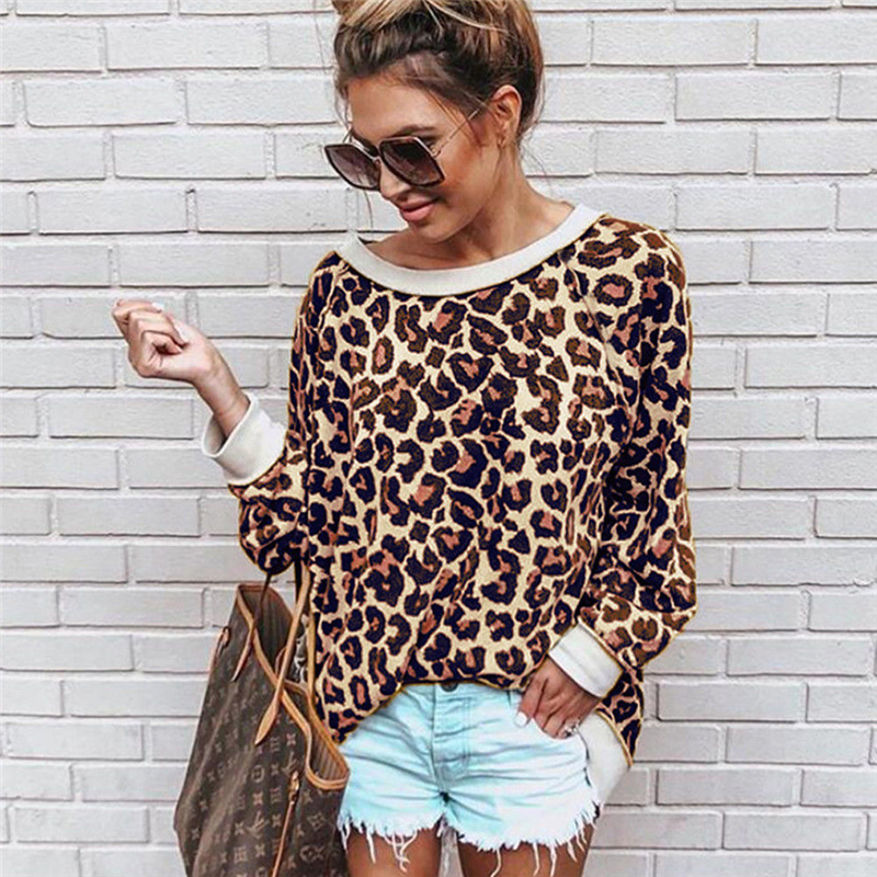 Objective Ladies Leopard Print Tops Sexy Women Turtleneck Long Sleeve Blouse Shirt Womens Blouses And Tops Female Crop Top Women Blouses Women's Clothing