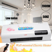 220V 2000W Electric Heater Warm Air Fan Adjustable Wall Portable Stove Radiator Warmer for Winter Digital display Remote Control
