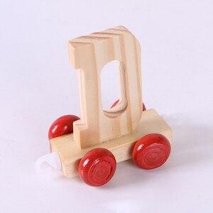 Image 5 - 28 قطعة أطفال الأبجدية قطار مرحلة ما قبل المدرسة التعليمية الإنجليزية رسائل Wooeden رقائق التعلم لعبة للأطفال الصغار