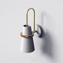 Nordic Железный светодиодный настенный светильник лампы Настенные светильники-бра Современный настенный настольная лампа Спальня прикроватные индустриальный Лофт домашний декоративный светильник