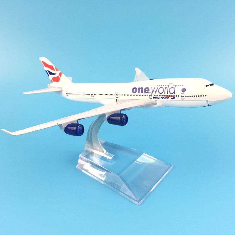 16cm Plane Model Airplane Model One World Boeing 747 Plane Model Aircraft Model 1:400 Diecast Metal Airplanes Plane Toy Gift
