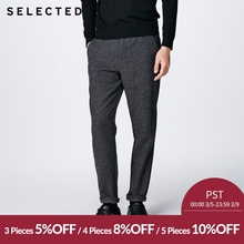 SELECTED the new men s wool blended fixed edge leisure trousers S 417414501