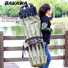 Fishing Bag Multifunctional Folding Backpack For Fishing Rod Bag