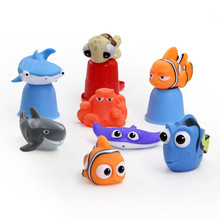 1 sztuk/zestaw zabawki do kąpieli dla niemowląt dzieci śmieszne miękkie gumowe Float Spray wody zabawki do ściskania wanna gumowa łazienka zagraj zwierzęta dla dzieci #tc