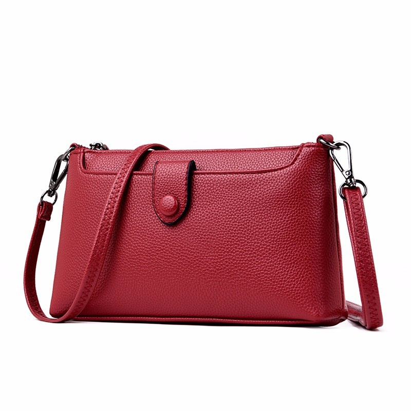 2019 Female Messenger Bags High Quality Small Leather Shoulder Bag Sac A Main Women Vintage Flap Clutch Bag For Girls Bolsa New
