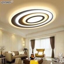 디밍 Led 천장 조명 원격 제어 현대 거실 침실 타원형 모양 5 sizechose 새로운 디자인 천장 조명기구