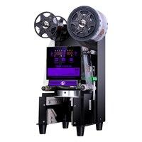 Full Automatic PP/PE Paper Cup sealer Commercial plastic beverage sealing film bubble tea cup Sealing Machine 9/9.5/8.8/8.9cm|Vacuum Food Sealers|Home Appliances -