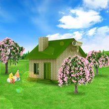 4 шт. шарообразные цветы Пластиковые модели деревьев поезд макет сад пейзаж белый и розовый цветок деревья Diorama миниатюрный розовый