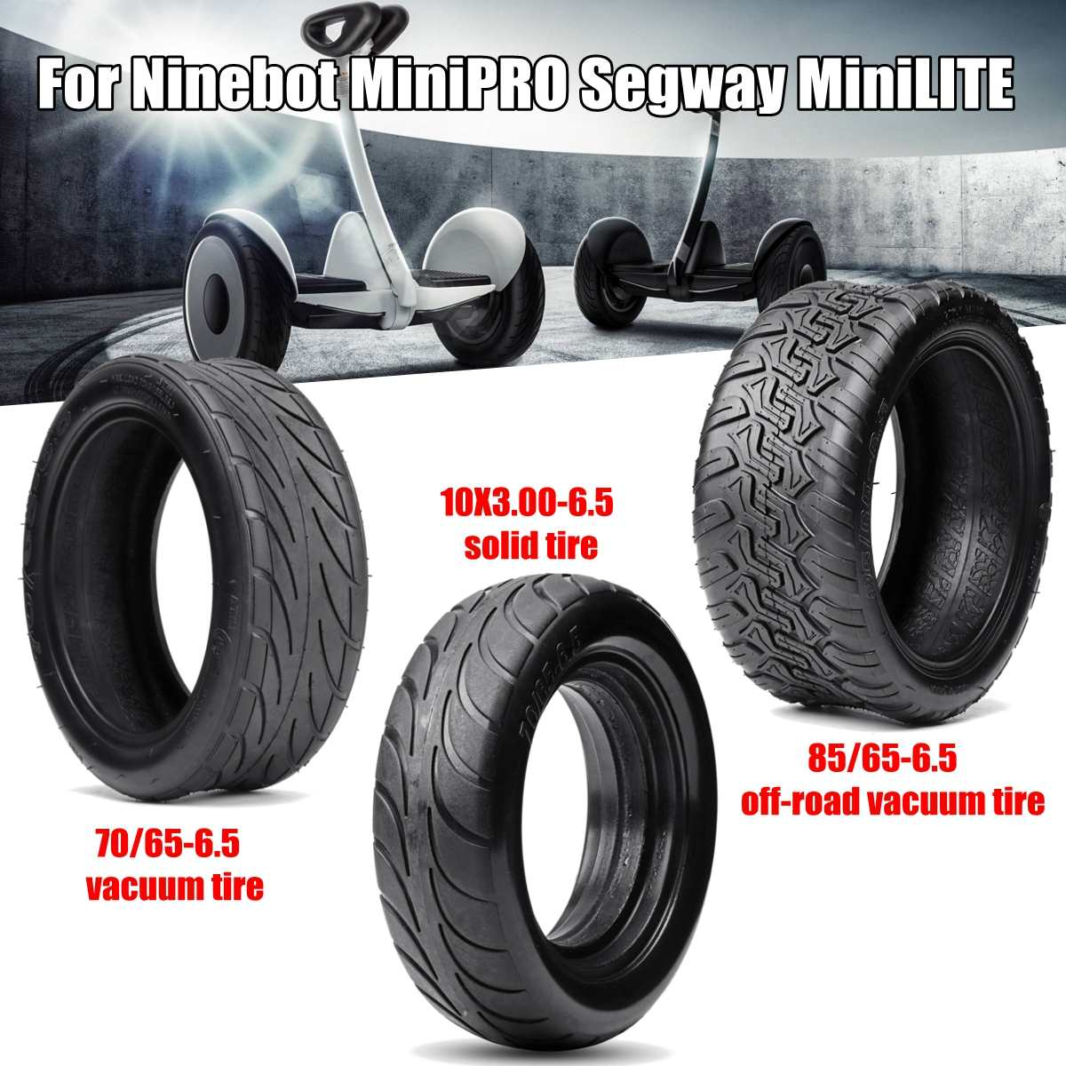 Ninebot MiniPRO Scooter Off Road Tire Tubeless Tyre for Segway MiniLITE Scooter