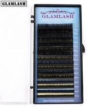 Glamlash высокое качество микс 7 ~ 15 мм 16 линий норковые синтетические