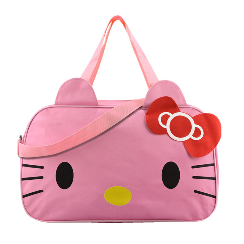 fae3986d46b6 Hello Kitty Women s Travel Bag Girl s Cute Messenger Handbag Clothes  Storage Organizer Shoulder Accessories Supplies Product