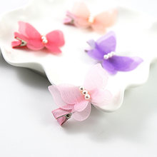 5PC Butterfly Pearl Hair Clip Little Girl Barrettes Cute Colorful Kids Gift Hairpins Children Headband Hair Accessories Headwear(China)