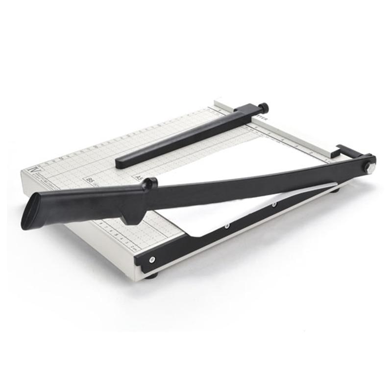 Professional A4 Paper Card Photo Cutter Scrap Booking Guillotine Blade Cutting Trimmer Graduated Scale Metal Mat Pad Base