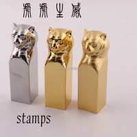 Hot Fashion Tiger Chinese Traditional Top Quality Seal Stamps For Scrapbooking Metal Crafts For Business Gift