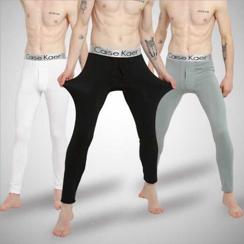 Winter Men Warmer Thermal Long Johns Pants Cotton Bottoms Underwear Underpants