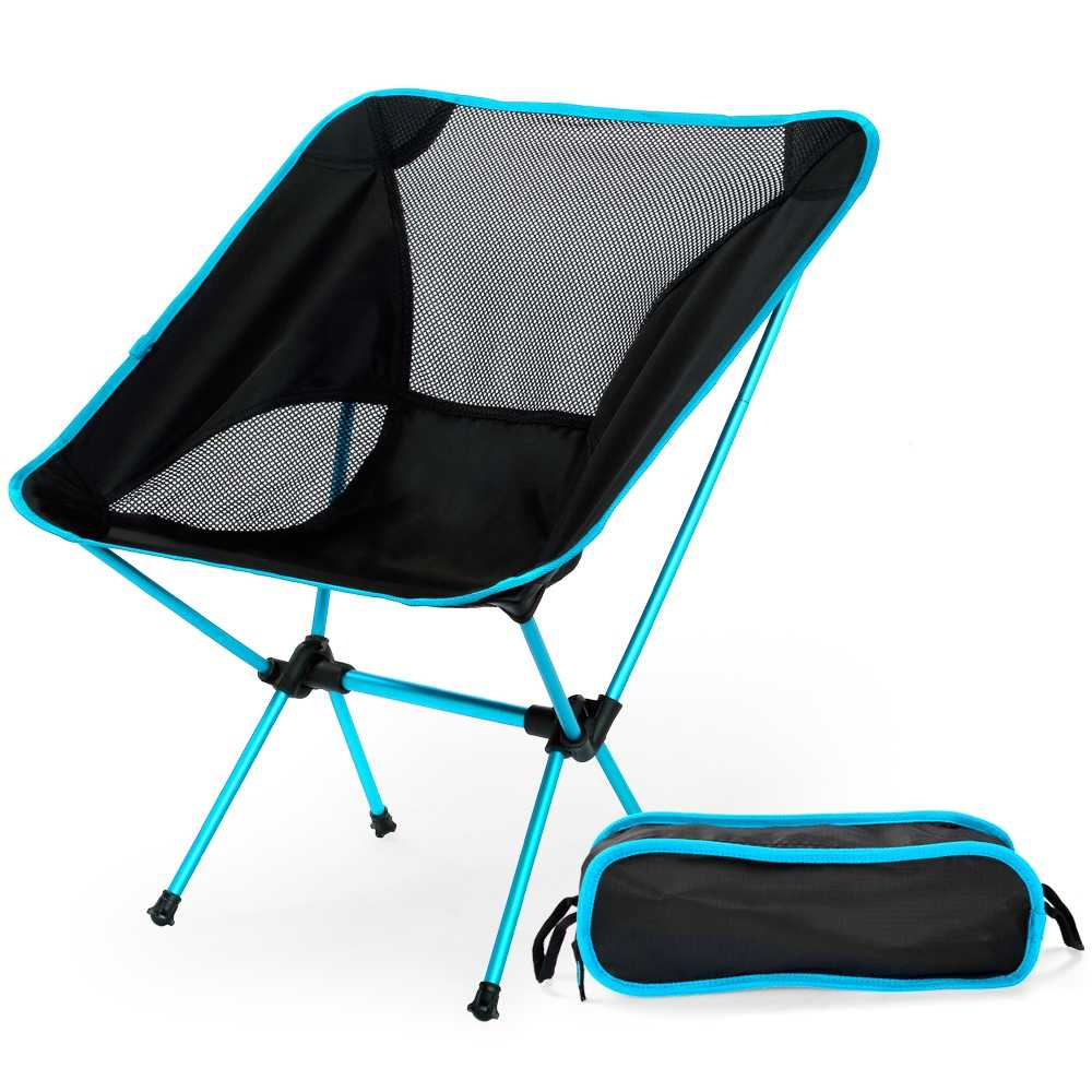 Aooba Folding Camping Stool Portable Outdoor Fishing Chair and 2 Pcs Fishing Lines for Travel Hiking Gardening Picnic Beach BBQ Camping Seat with Carry Bag
