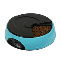 6 Meal LCD Digital Automatic Pet Dog Cat Feeder Recorder Bowl Meal Dispenser DC156