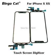 Ori Touch Screen With Flex Cable for iPhone X XS LCD Screen No Welding Outer Touch Panel Digitizer Front Glass Lens Replacement