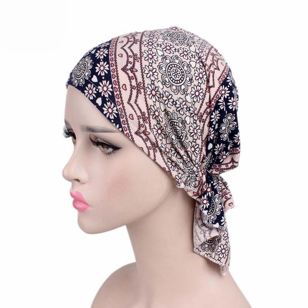 Fashion Design Women Muslim Stretch Turban Hat Chemo Bonnet Hair Loss Cancer Head Scarf Wrap Hijib Cap in Men 39 s Skullies amp Beanies from Apparel Accessories
