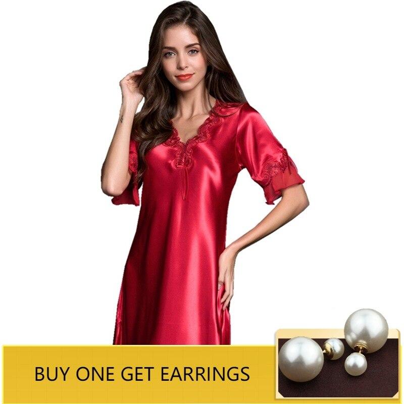QWEEK   Nightgowns   &   Sleepshirts   Sleep Lounge Sleepwear Women Night Dress Sexy Ladies Nightwear Bride Dressing Gown Home Dress