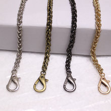 120cm Accessories for Bags Metal Chain Purse Buckles Shoulder Bags handbag chain Straps Shoulder Crossbody Bag Parts(China)