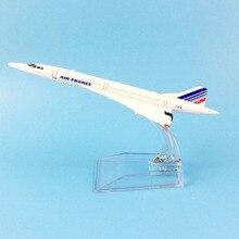 飛行機モデル 16 センチメートルエールフランスコンコルド航空機モデル飛行機飛行機 1:400 飛行機のおもちゃギフト送料無料