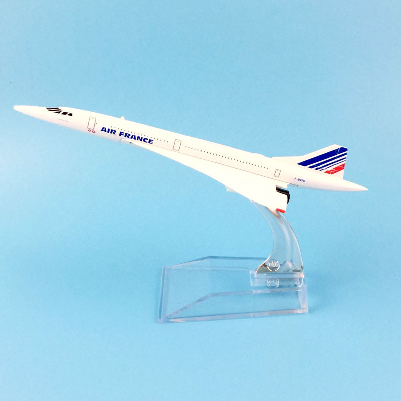 Airplane Model 16cm Air France Concorde Aircraft Model Diecast Metal Plane Airplanes 1:400 Plane Toy Gift Free Shipping