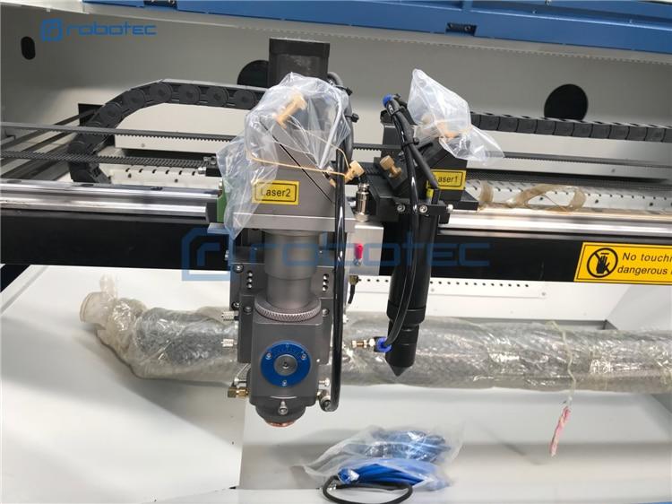 Two Heads Cnc Laser Metal Cutting Machine Price 4x3 Feet Metal Laser Cutter On Sale, Wood Laser Engraver Machine