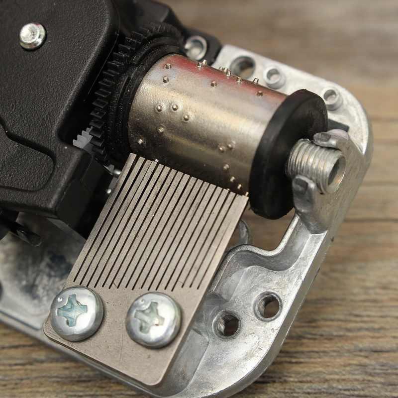 Hot Koop Diy Hand Crank Music Motor Mini Muziekdoos Voor Poppenhuis Poppenhuis Accessoires Muziek Dozen Beweging Kistjes Stad van Sky