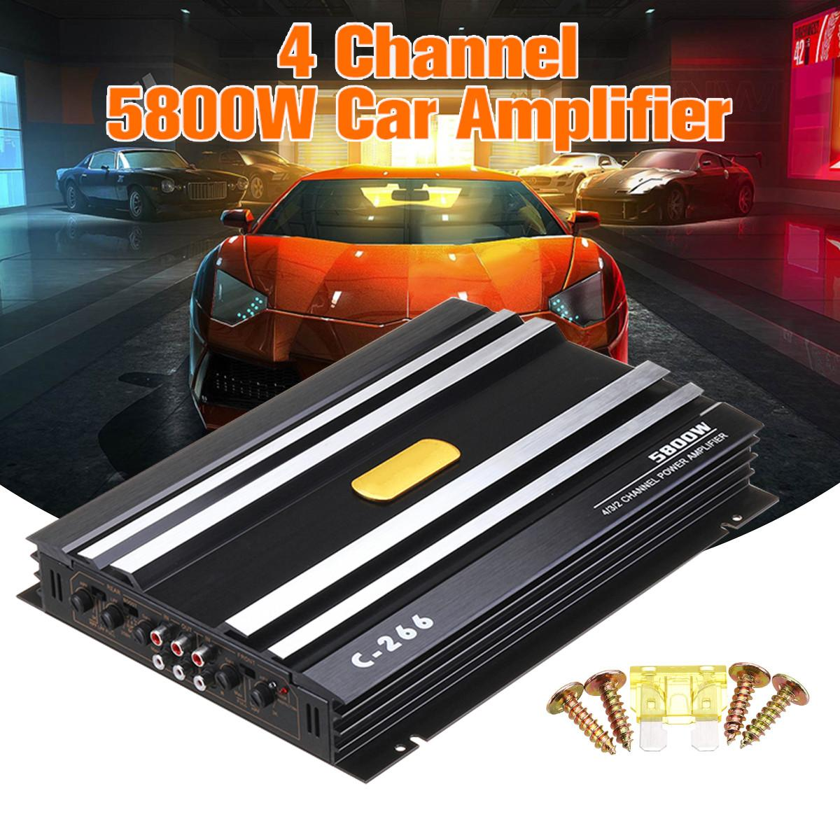 5800 Watt 4 Channel 12V Car Amplifer Car Audio Power AmplifierCar Audio Amplifier for Cars Amplifier Subwoofer