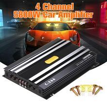 Amplificador de Audio para coche de 5800 vatios, Four canales, 12 V, amplificador de Audio para coche, amplificador de Audio para coches, Subwoofer