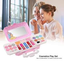 Disney Cosmetics Play Set Princess Makeup Kit with Case Little Girls Non-Toxic Cosmetic Box Girl Makeup Kit Box Eyeshadow Lips(China)