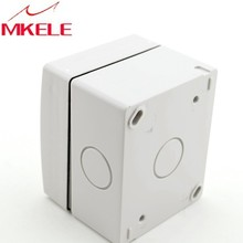 Best price MK-SBSR Germany standard plastic box wall mount mount, IP65 Weatherproof Electric pvc outdoor socket
