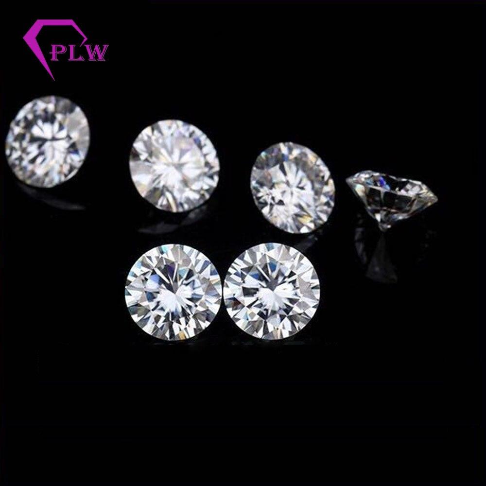 Hot sale 1 2 carat 7mm EF color 3ex cut excellent brilliant round moissanite VVS for