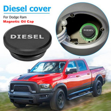 Billet Aluminum Car Diesel Magnetic Tank Fuel Cap Oil Filler Cover Caps For Dodge Ram Truck Permanent 2013-2019