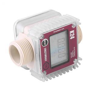 Image 5 - K24 Fuel Flow Meter Digital Diesel Oil Fuel Meter Gauge For Chemicals Liquid Water Measurment Tools Tester New 2019