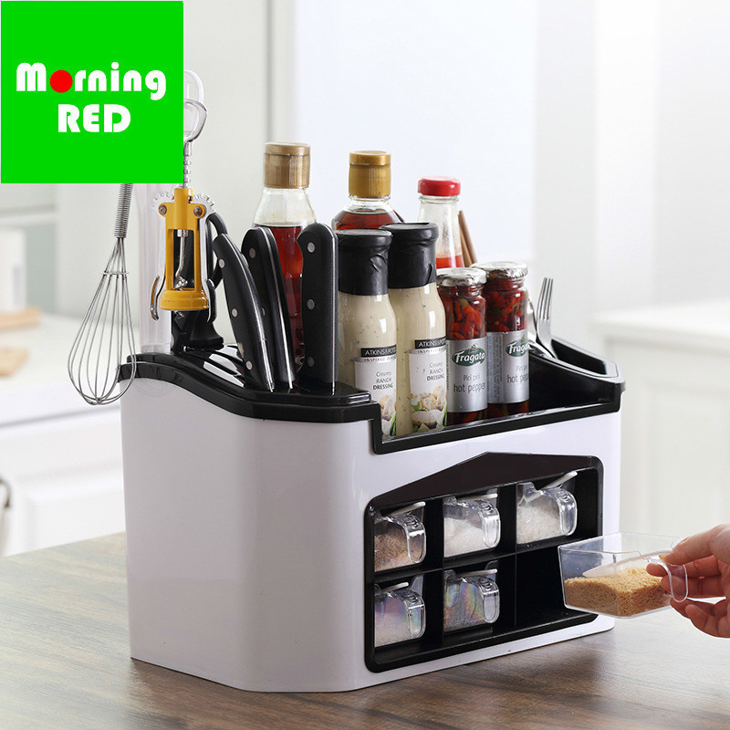 New Arrivals Kitchen Seasoning Plastic Box Condiment Storage Container Indispensable Cooking Tool Dish Knife And Fork Organizer New Arrivals Kitchen Seasoning Plastic Box Condiment Storage Container Indispensable Cooking Tool Dish Knife And Fork Organizer