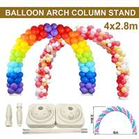 4x2.8M Balloon Arch Stand Base Pot Kit Clip Connector Wedding Party Celebration Supplies Adjustable DIY Ball Arch Support Decor