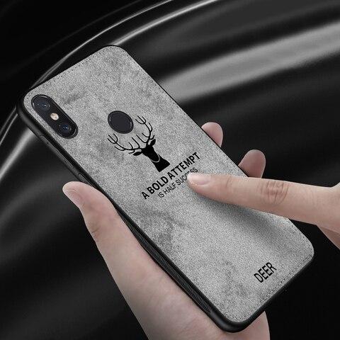 Luxury Deer Cloth Phone Case For Xiaomi Mi 9 A2 Light 8 Lite Pocophone F1 Cases Tpu Cover For Xiaomi Redmi 7A Note 7 8 A7 Global Islamabad