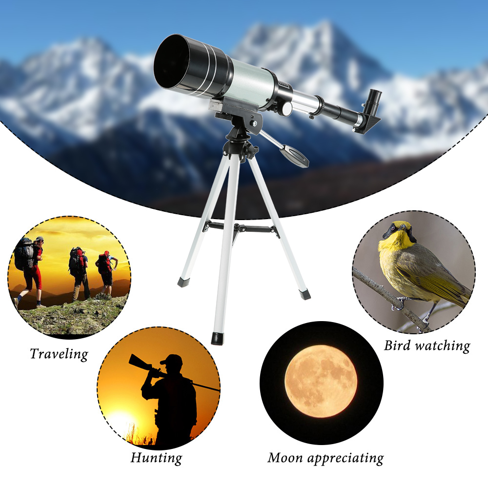 Image 5 - Professional Outdoor HD Monocular 150X Refractive Space Astronomical Telescope Travel Spotting Scope with Portable Tripod Lever-in Monocular/Binoculars from Sports & Entertainment