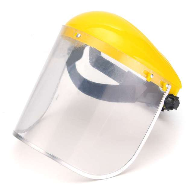 Safety Face Shield >> Us 9 37 35 Off Aliexpress Com Buy New Transparent Clear Grinding Safety Face Shield Screen Mask Visors For Eye Face Protection Face Shield Solder