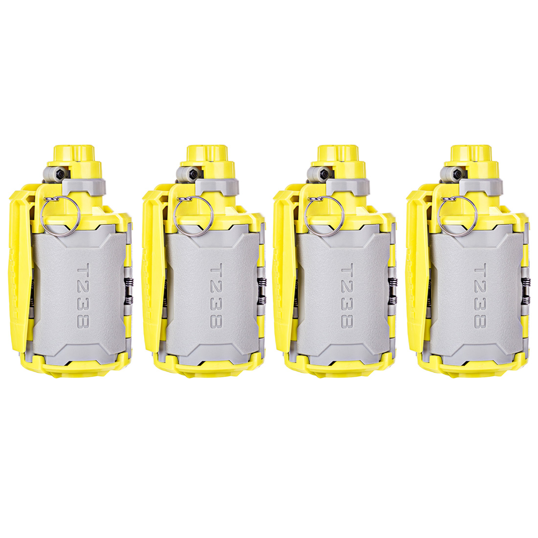 4 Pcs T238 V2 Large Ungrad Capacity Bomb Tactical Toy With Time-delayed Function For Nerf Gel BBs Airsoft Wargame