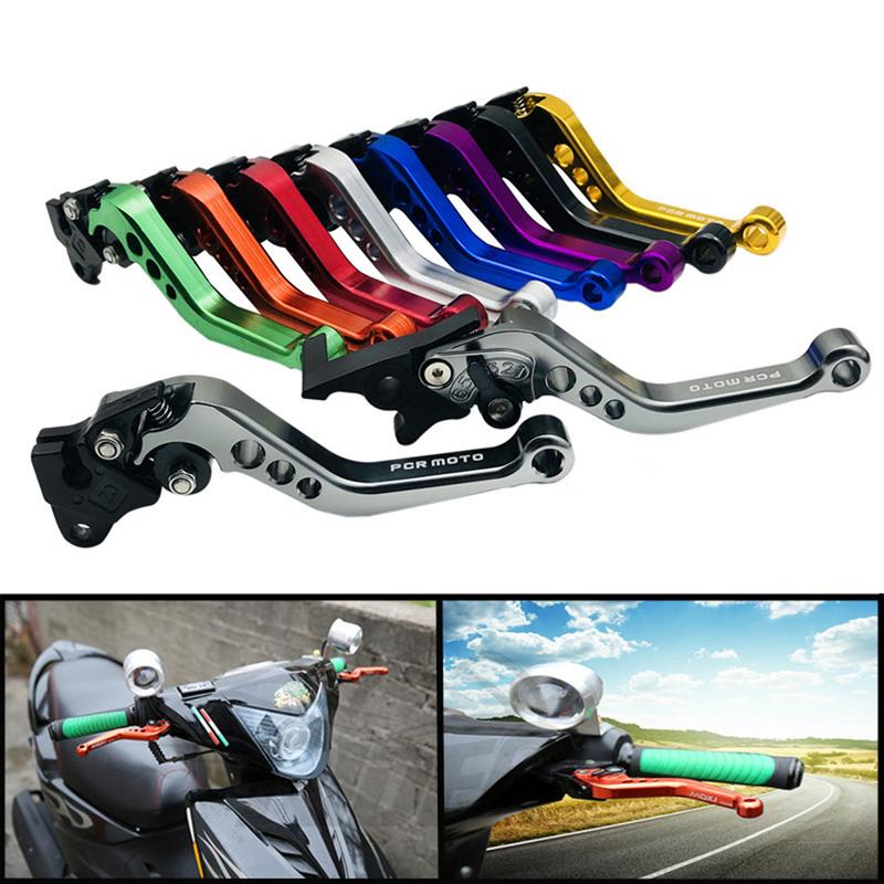 Professional Moped Motorcycle Parts Modified Imitation For Fuxi WISP Fast Eagle Brake Hand Horn Adjustable Hand Lever GY6-in Grips from Automobiles & Motorcycles