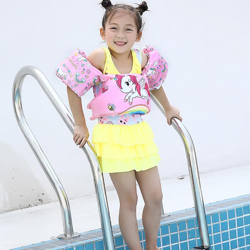 Children's Life Jacket Buoyancy Vest Swim Aids For Toddlers Arm Foam Lifebuoy For Kids Learning Swiming Safe Float Ring