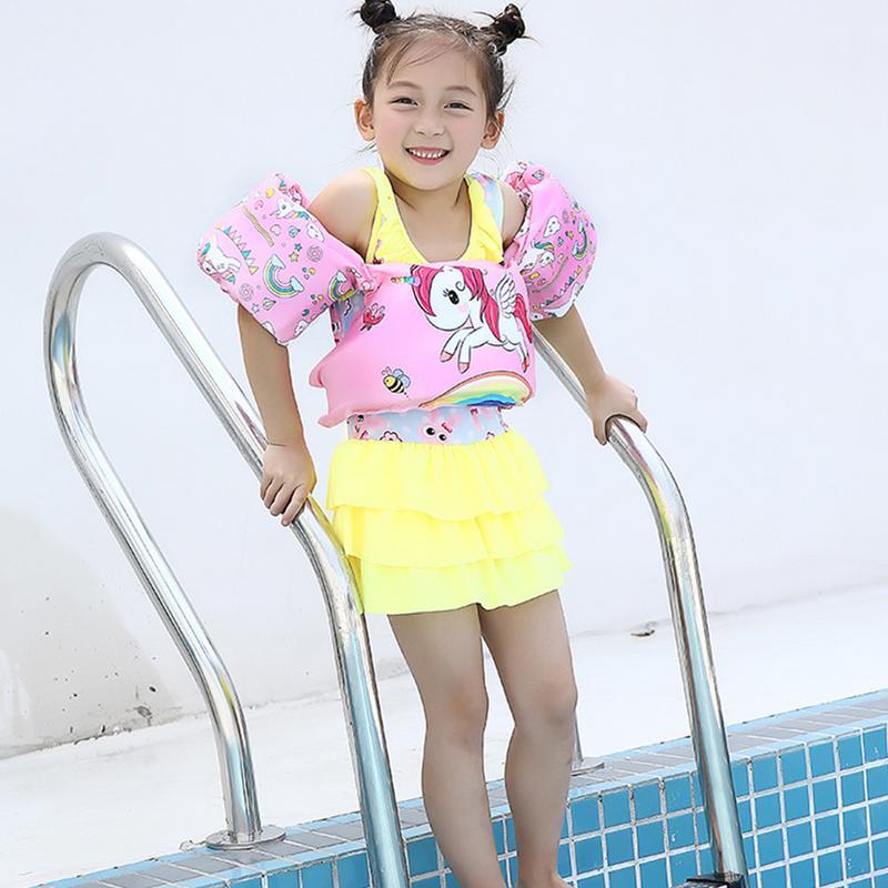Children's Life Jacket Buoyancy Vest Swim Aids For Toddlers Arm Foam Lifebuoy For Kids Learning Swiming Safe Float Ring