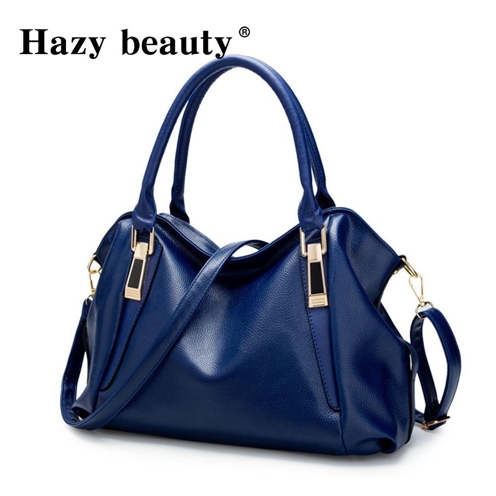 Hazy beauty Women Handbag Female PU Leather Bags Handbags Ladies Portable Shoulder Bag Office Ladies Hobos Bag Totes 57