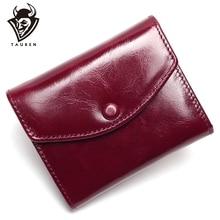 Винтажный кошелек из натуральной вощеной кожи, женский роскошный брендовый Кошелек для монет, мини кошелек для путешествий, женские кошельки и кошельки