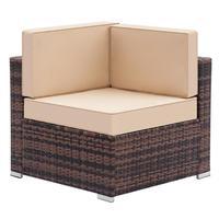 Weaving Rattan Left Corner Sofa Vintage Funiture Bedroom Balcony Mini Sofa Simple Single Sofa Chair for Living Room