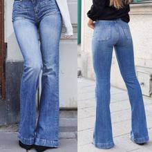 9907b832a98 Женские джинсы Bootcut джинсы стрейч Широкие Брюки расклешенные клеш Женские